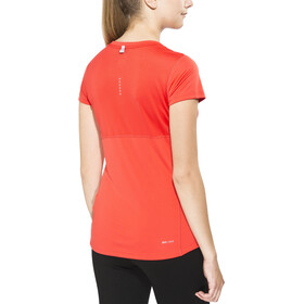 Nike Miler Shortsleeve Top V-Neck Women, lt crimson